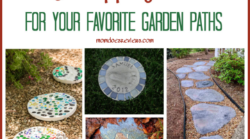 DIY Stepping Stones For Your Favorite Garden Paths #diyproject #gardenprojects #steppingstones