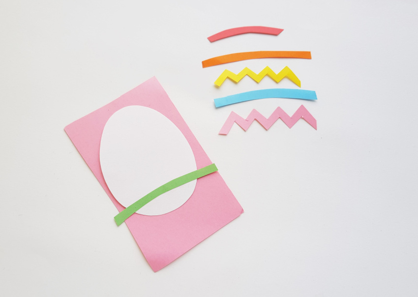 Easter Egg Paper Craft process