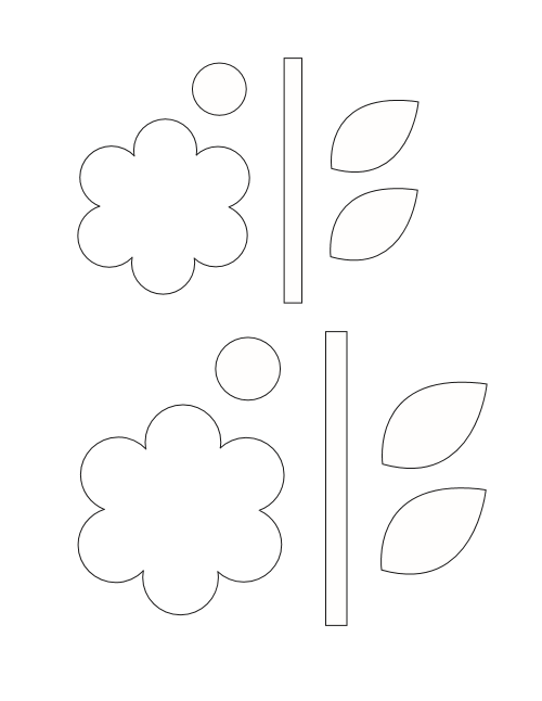 Flower Basket Paper Craft PDF Template
