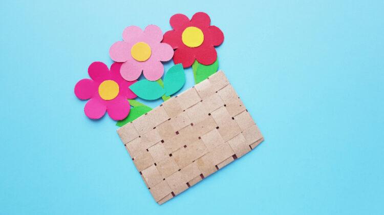 Flower Basket Paper Craft for Kids