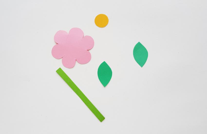 Flower Basket Paper Craft process