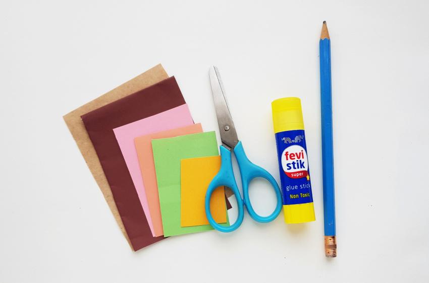 Flower Basket Paper Craft supplies needed