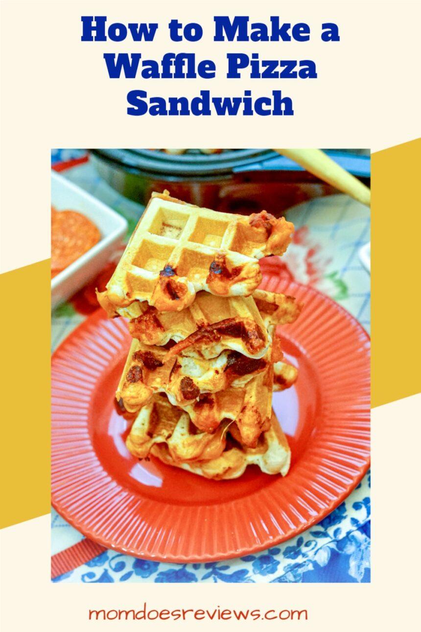 How to Make a Waffle PIzza Sandwich #funfood #pizzasandwich #recipe