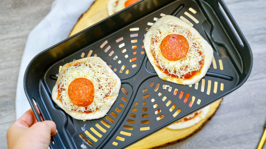 How to Make Air Fryer Biscuit Pepperoni Pizza