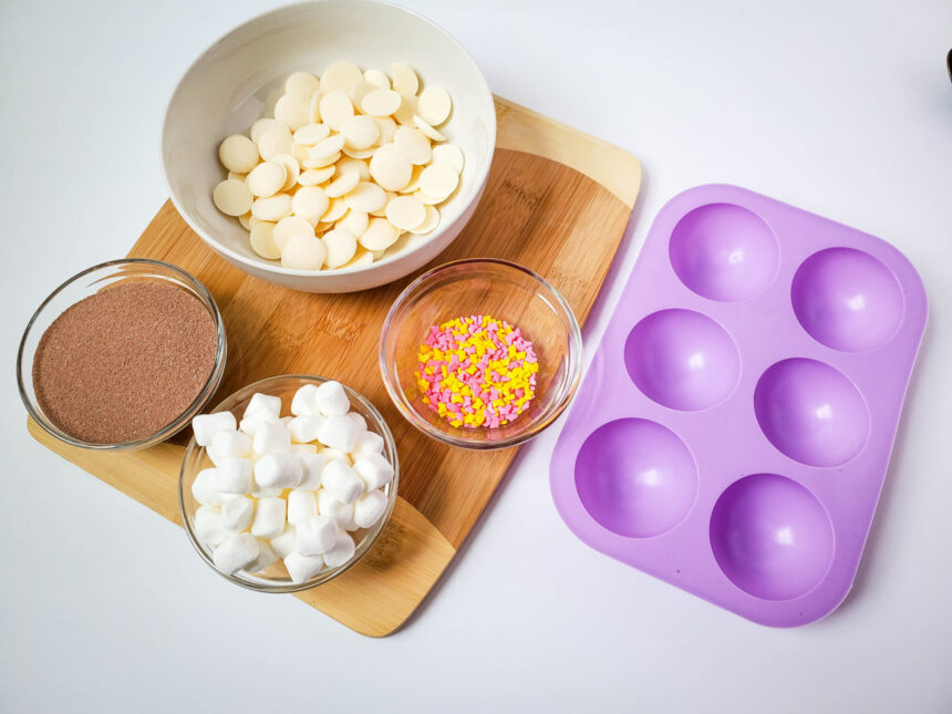Butterfly Sprinkles White Chocolate Hot Chocolate Bombs