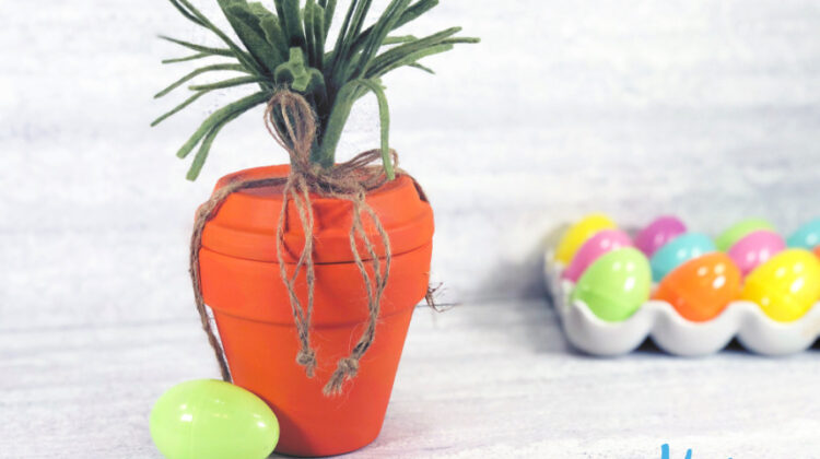 Clay Pot Carrot Craft for Easter Fun