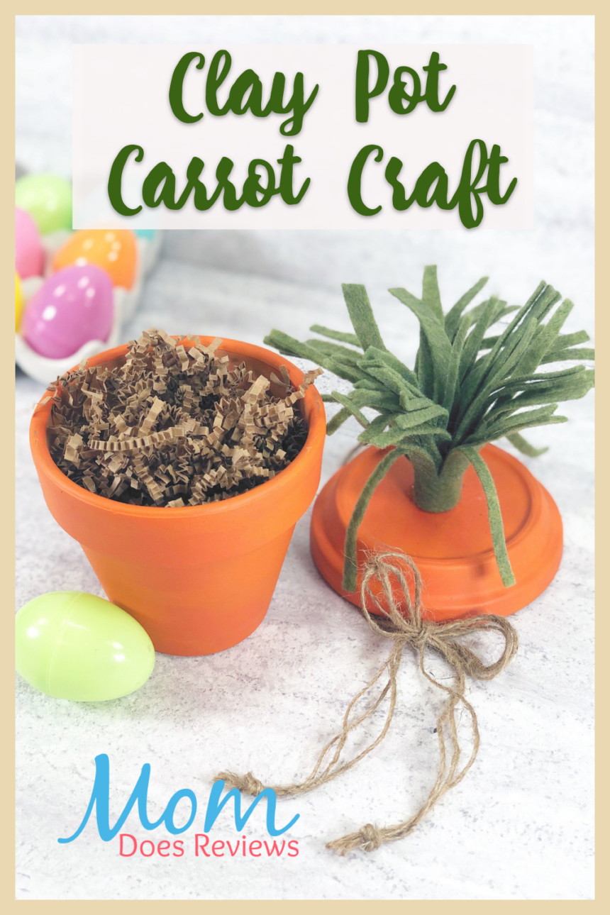 Clay Pot Carrot Craft for Easter Fun #crafts #eastercraft #claypotcraft #Diy