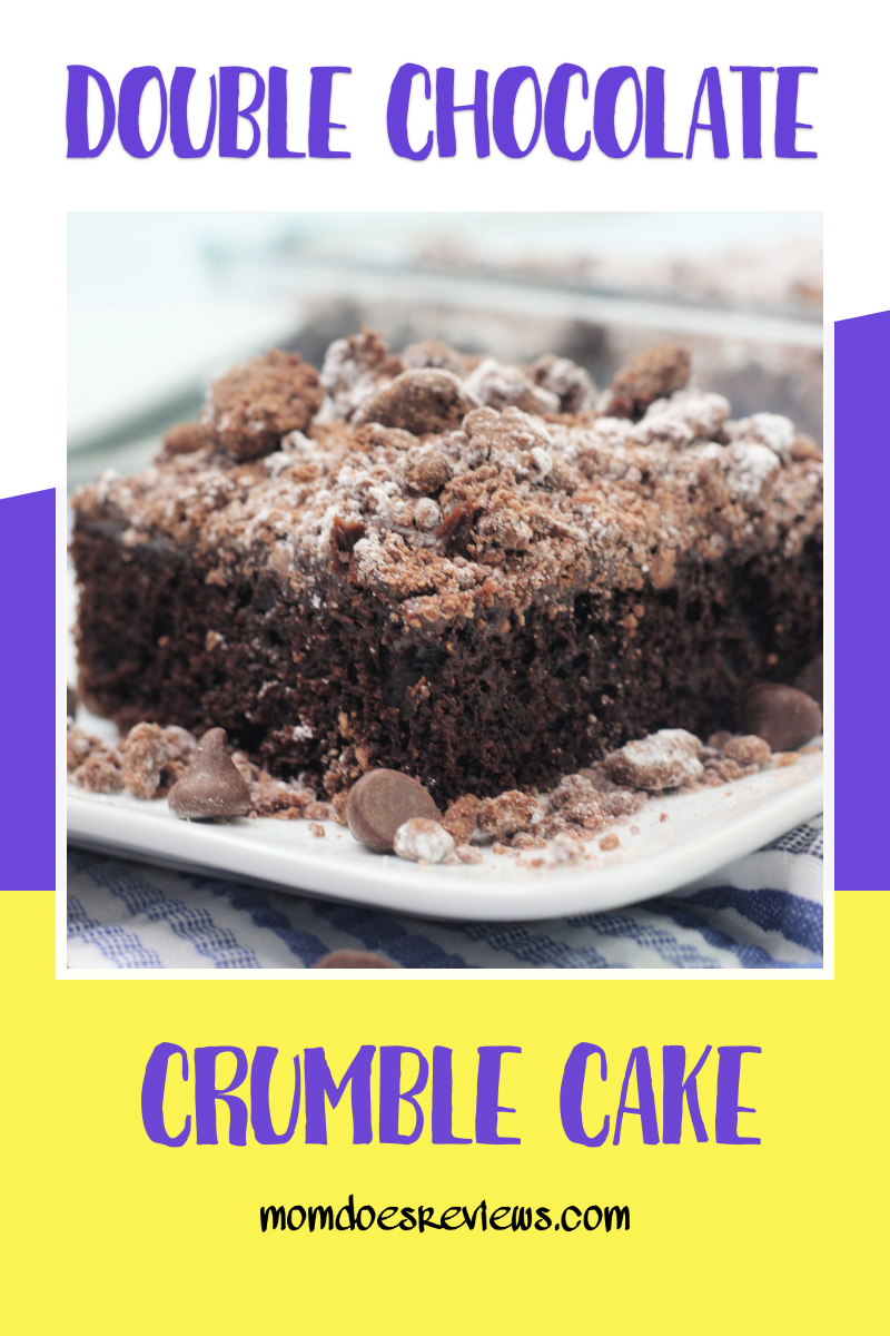 Double Chocolate Crumble Cake #recipe #chocolatecake #chocolatelovers