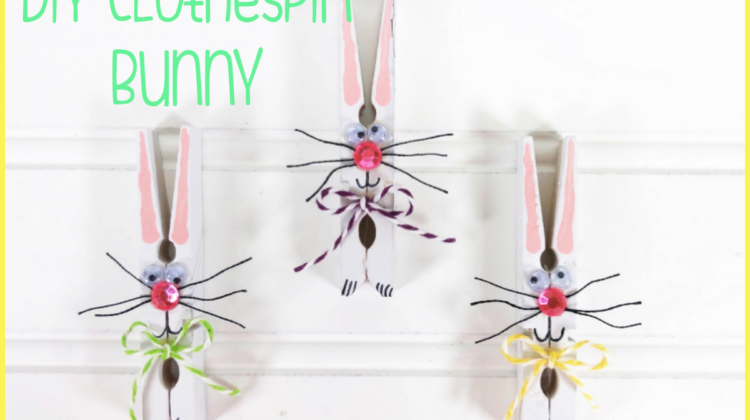 Dollar Store Clothespin Bunny Craft