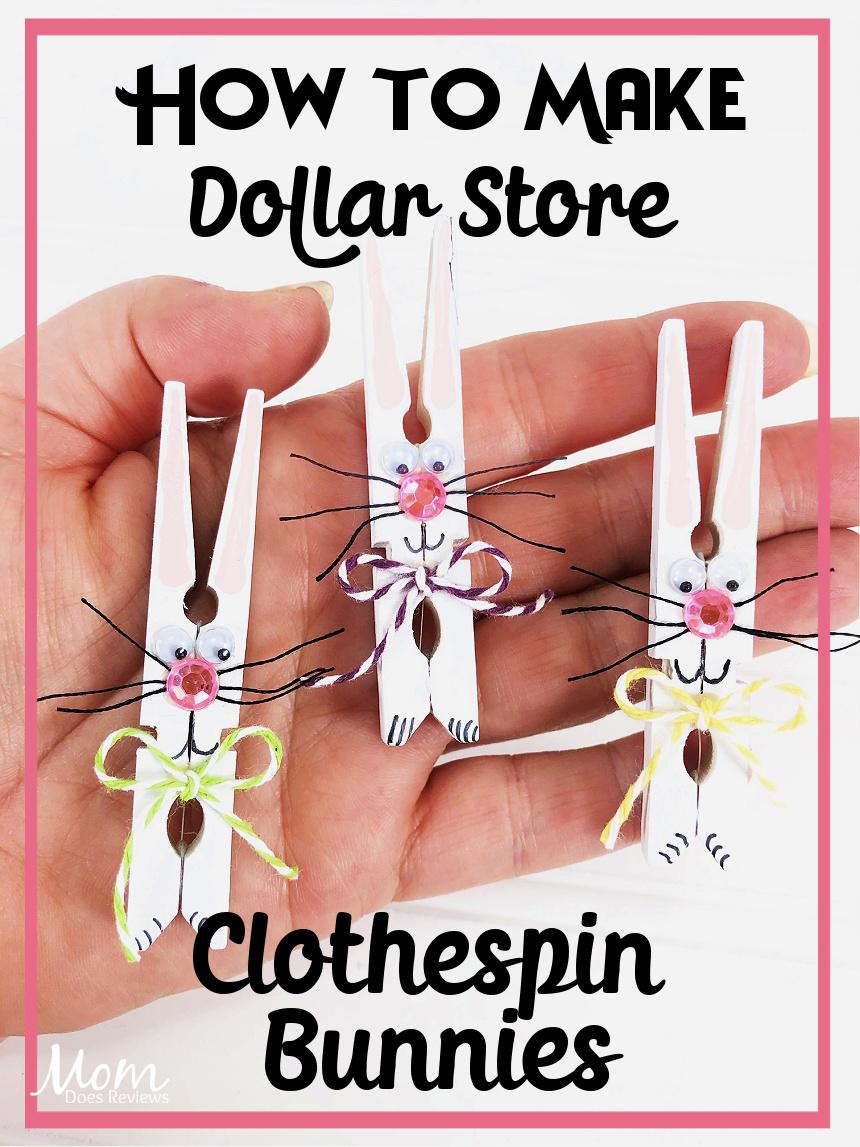 Dollar Store Clothespin Bunny Craft