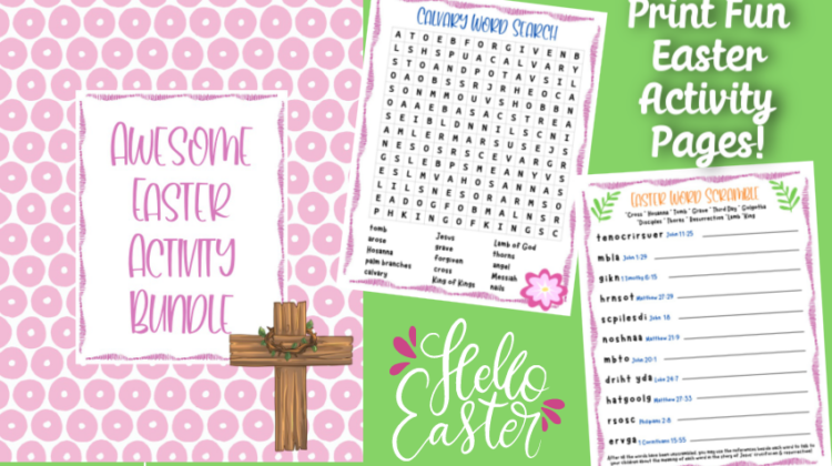 Easter Activity Pages- Free #Printables!