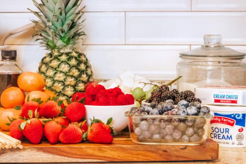 Easy Rainbow Fruit Kabobs