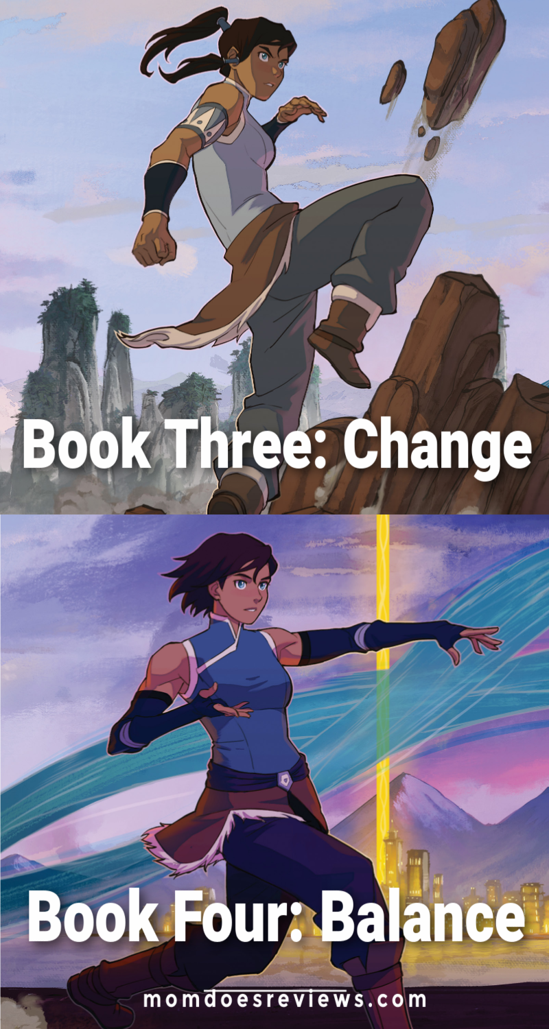 Legend of Korra Book three and four