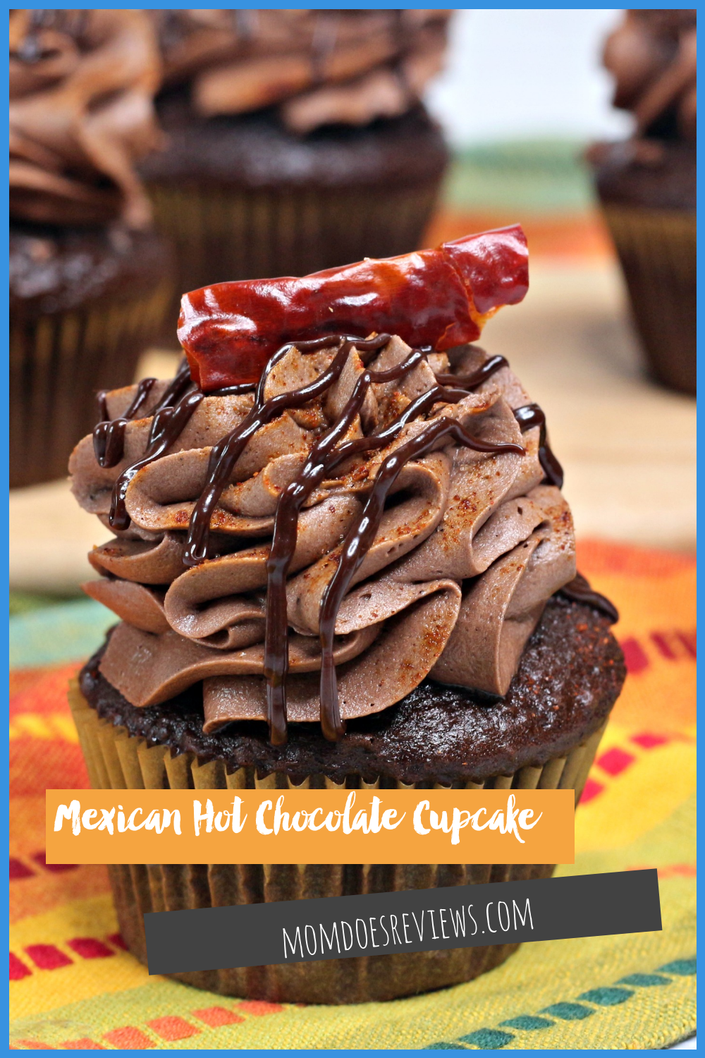 Mexican Hot Chocolate Cupcake #recipe #cupcakedecorating #chocolatelovers