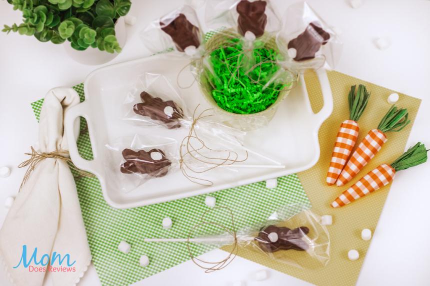 Chocolate Covered Peeps Bunnies