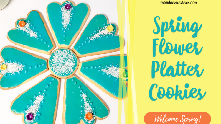 Beautiful Spring Flower Platter Cookies