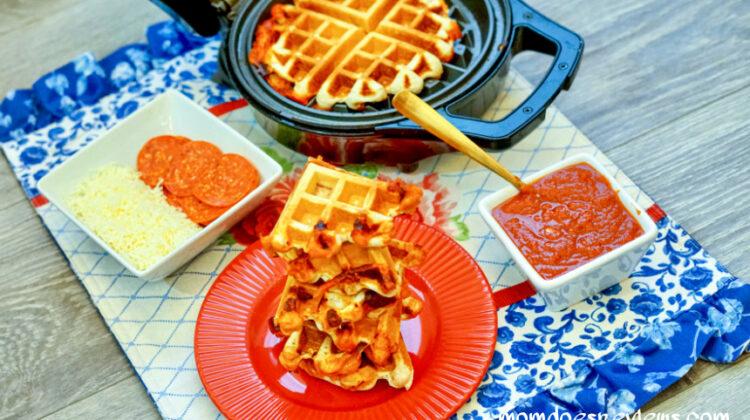 How to Make a Waffle PIzza Sandwich