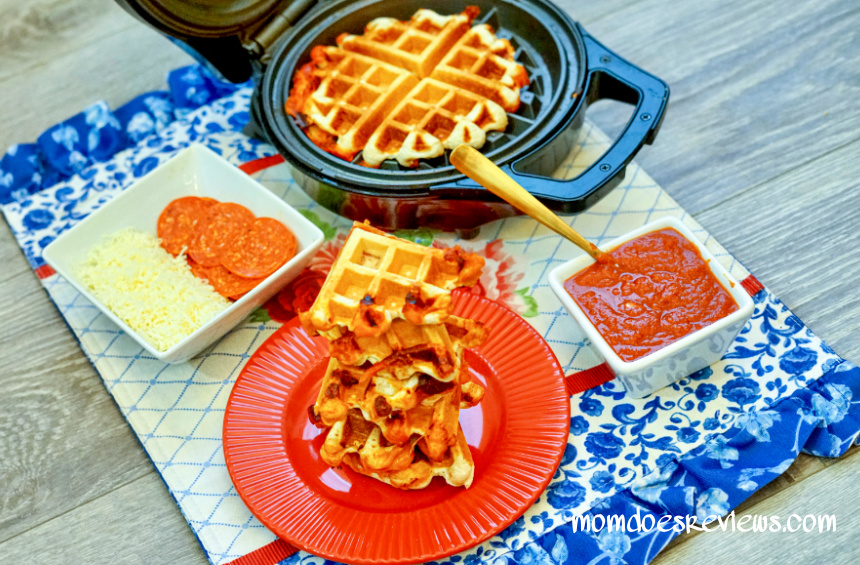 How to Make a Waffle PIzza Sandwich