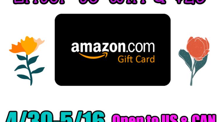 #Win $25 Amazon GC! US/CAN