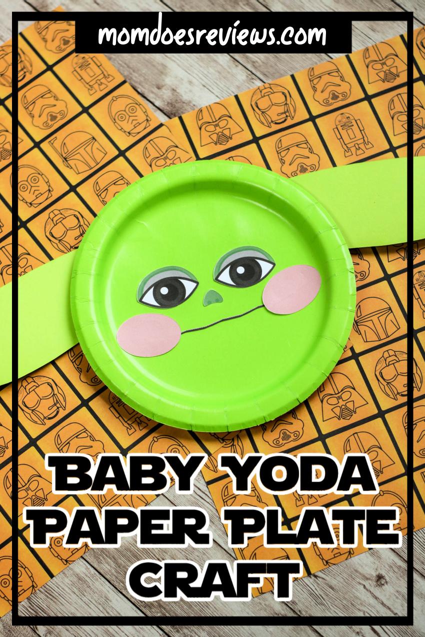Baby Yoda Paper Plate Craft #starwars #easycraft #babyyoda