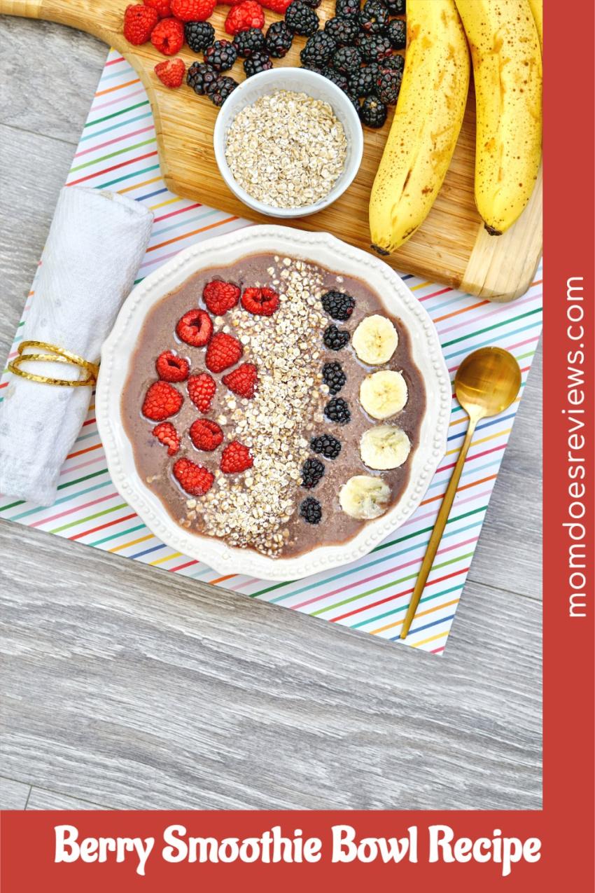 Berry Smoothie Bowl Recipe #healthybreakfast #smoothiebowl #foodie
