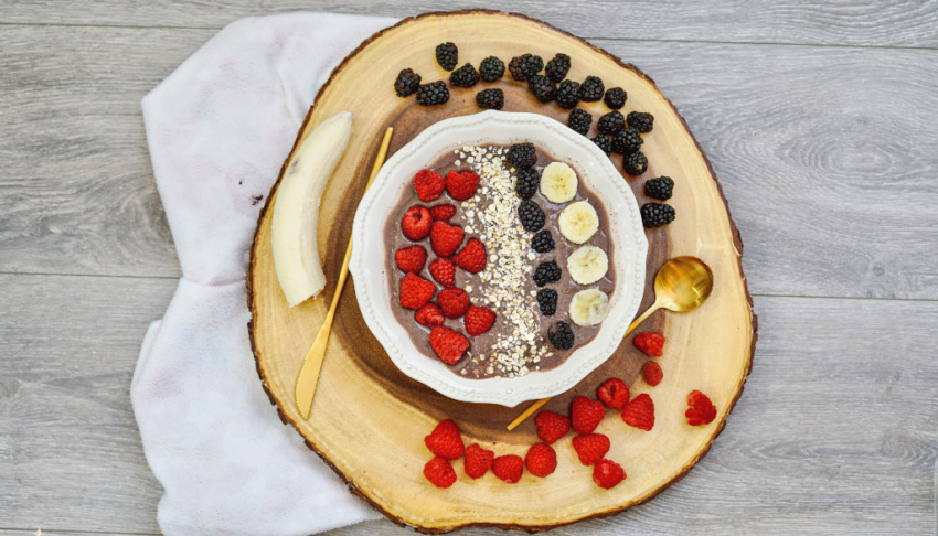 Berry Smoothie Bowl process