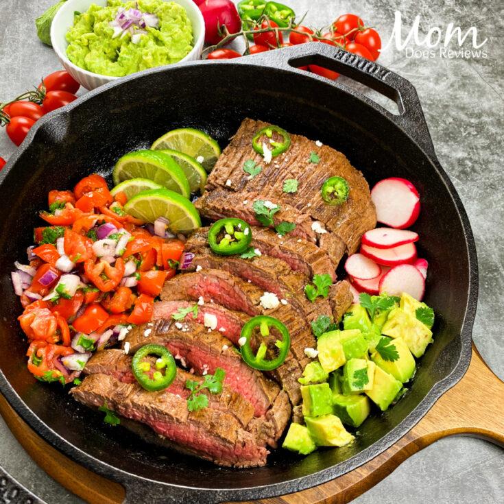 Carne Asada Bowls- 20 Minute Cast Iron Skillet Meal!