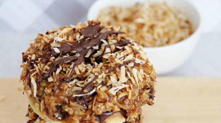 Homemade Girl Scout Samoa Donuts Recipe