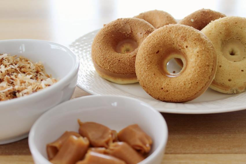 Girl Scout Samoa Donuts process