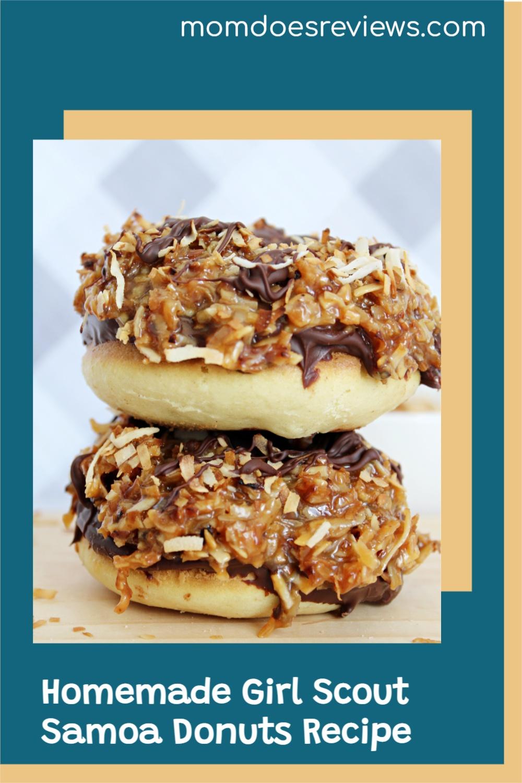 Homemade Girl Scout Samoa Donuts #Recipe #sweets #homemadedonuts