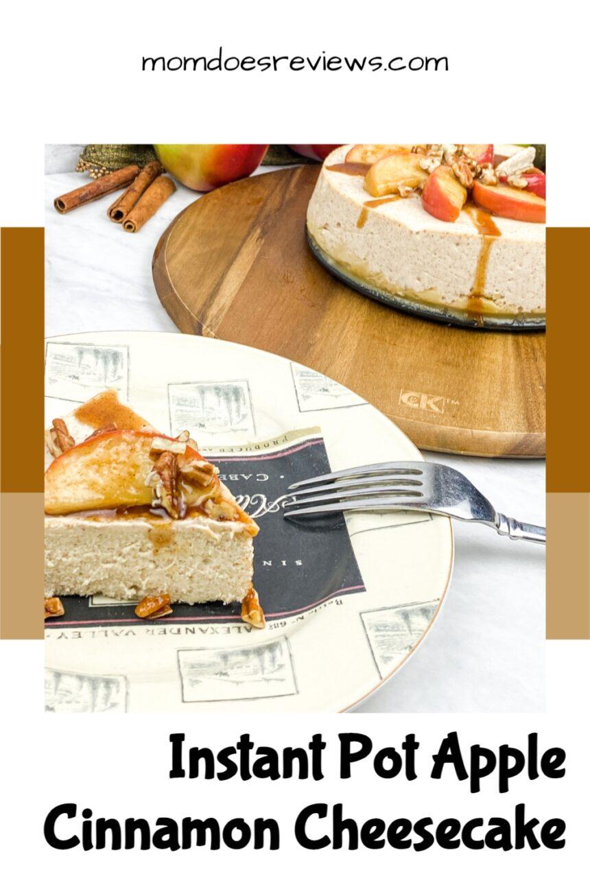 Instant Pot Apple Cinnamon Cheesecake #recipe #desserts #instantpot