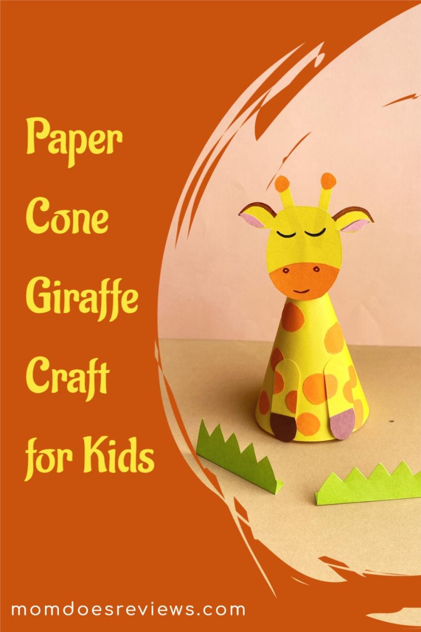 Paper Cone Giraffe Craft for Kids #papercraft #DIY #funstuff