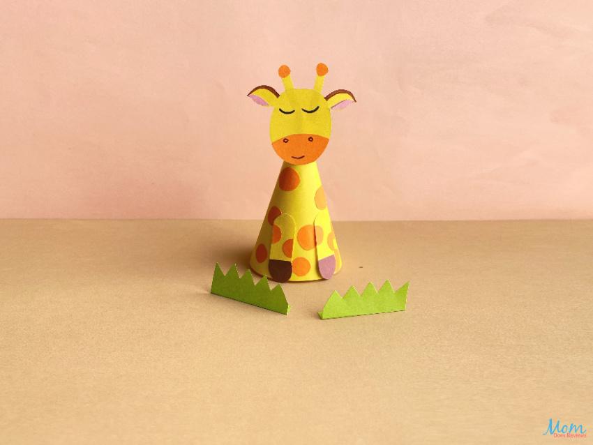 Paper Cone Giraffe Craft for Kids