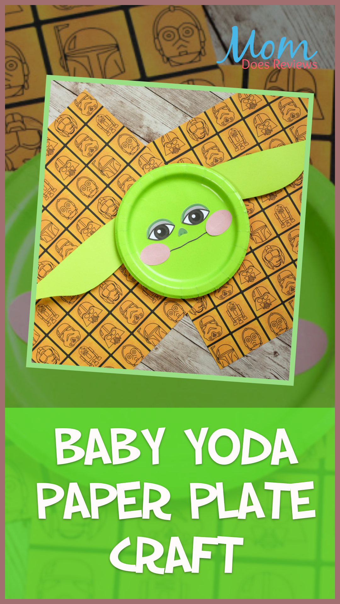 Baby Yoda Paper Plate Craft