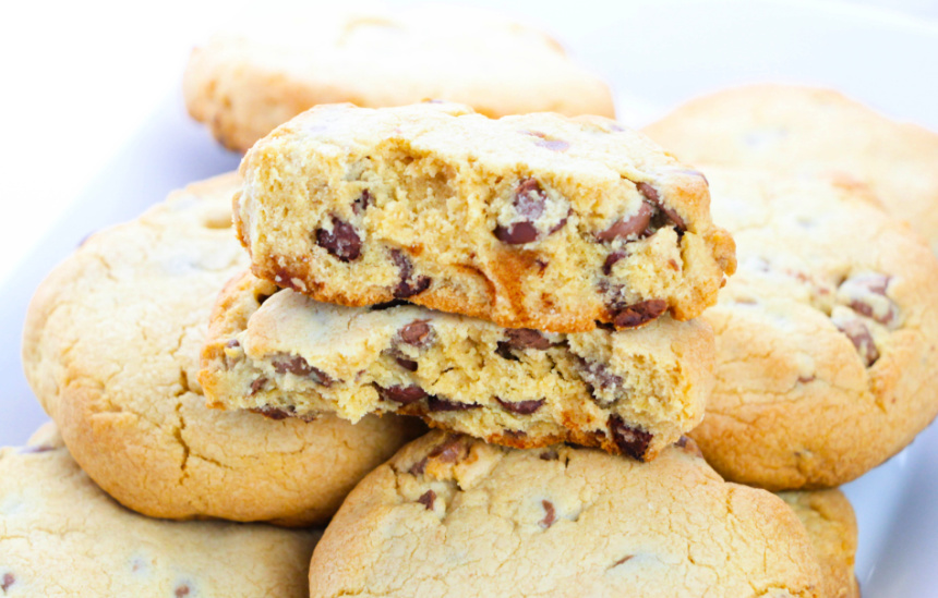 Giant Chocolate Chip Cookies #recipe