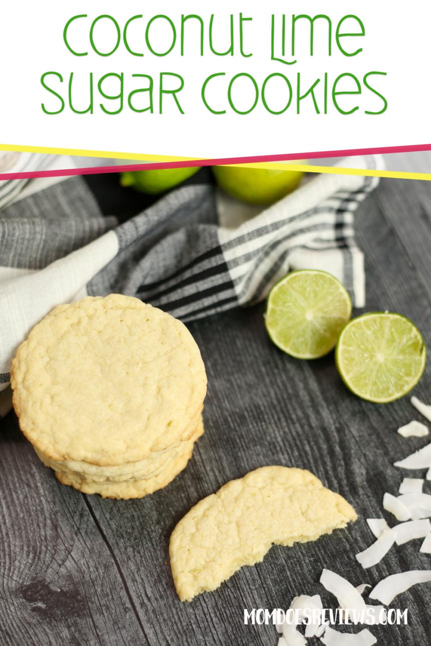 Coconut Lime Sugar Cookie #Recipe #sugarcookies #sweets