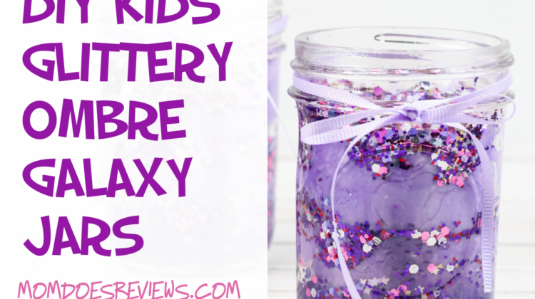 DIY Kids Glittery Ombre Galaxy Jars