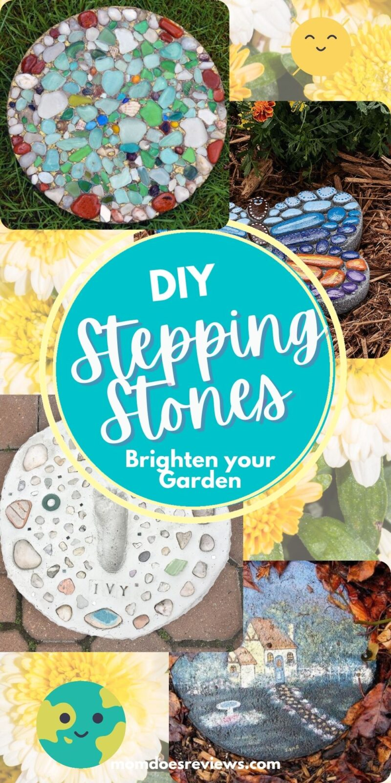 DIY Stepping Stones For Your Favorite Garden Paths