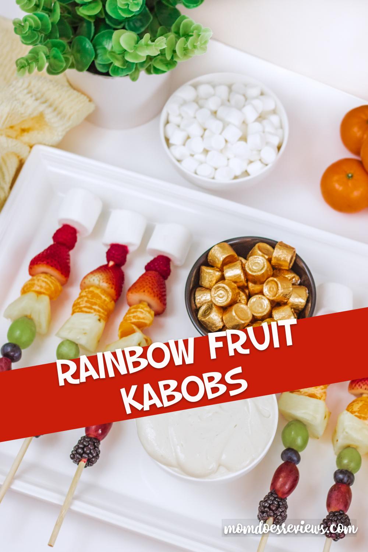 Easy Rainbow Fruit Kabobs#funfood #snacks #fruits