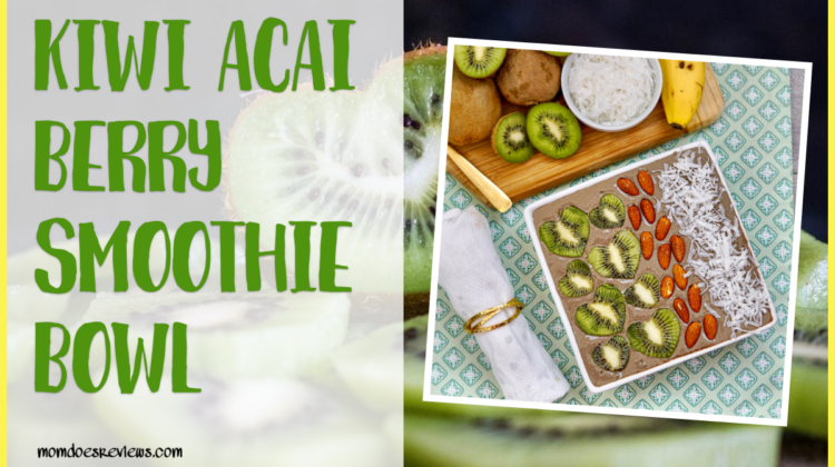 Kiwi Açaí Berry Smoothie Bowl #recipe #breakfastfood #smoothiebowls