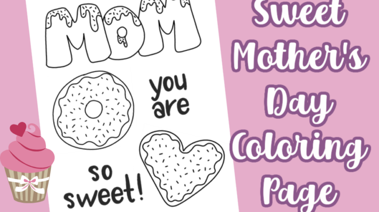 Sweet Mother's Day Coloring Page