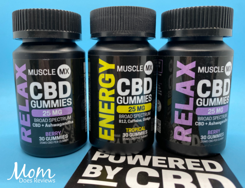 Try Muscle MX Relax or Energy CBD Gummies! #SpringintoSummerFun