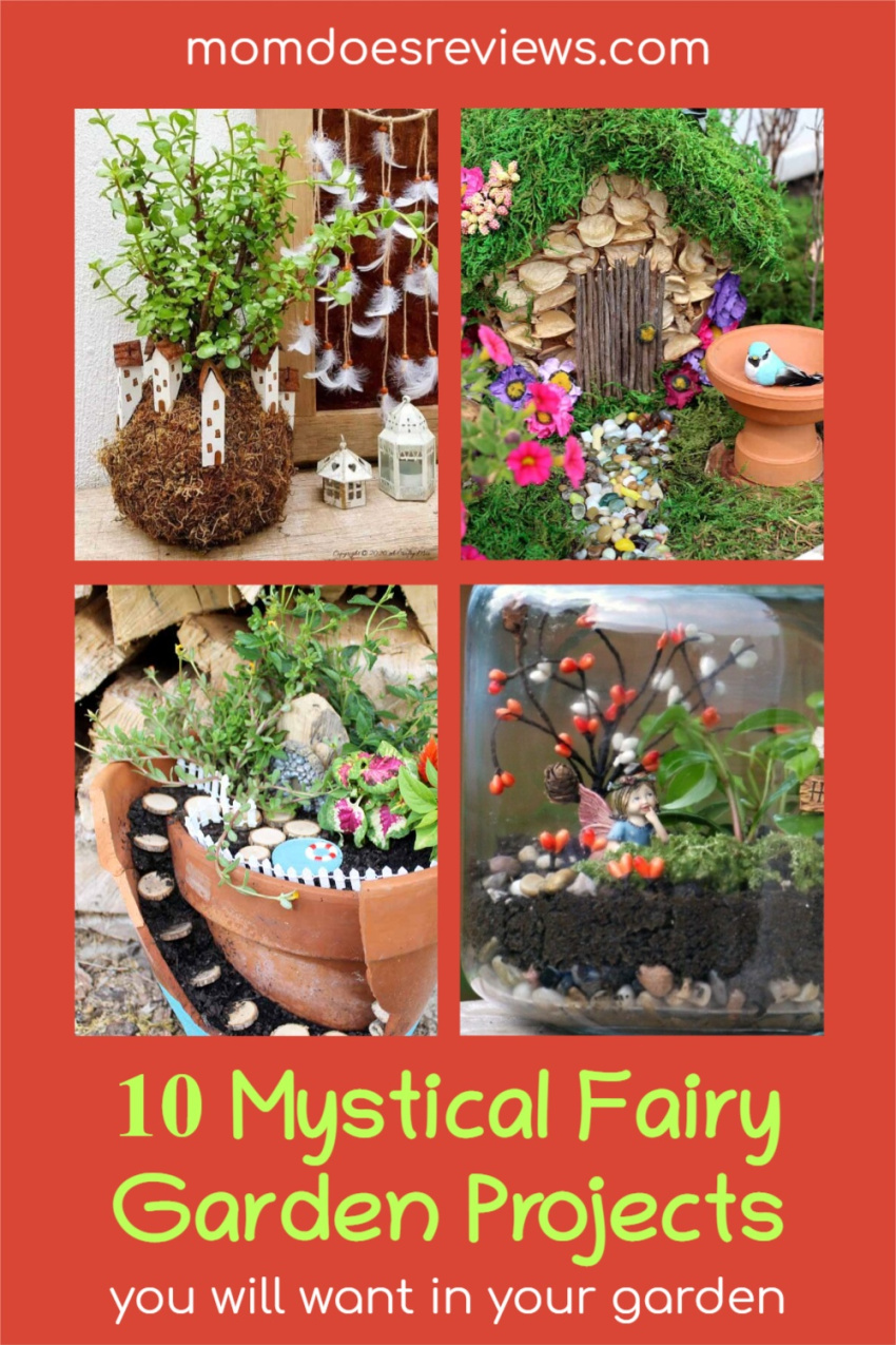 10 Mystical Fairy Garden Projects You Will Want in Your Garden #crafts #diy #gardendecor #fairyhouses