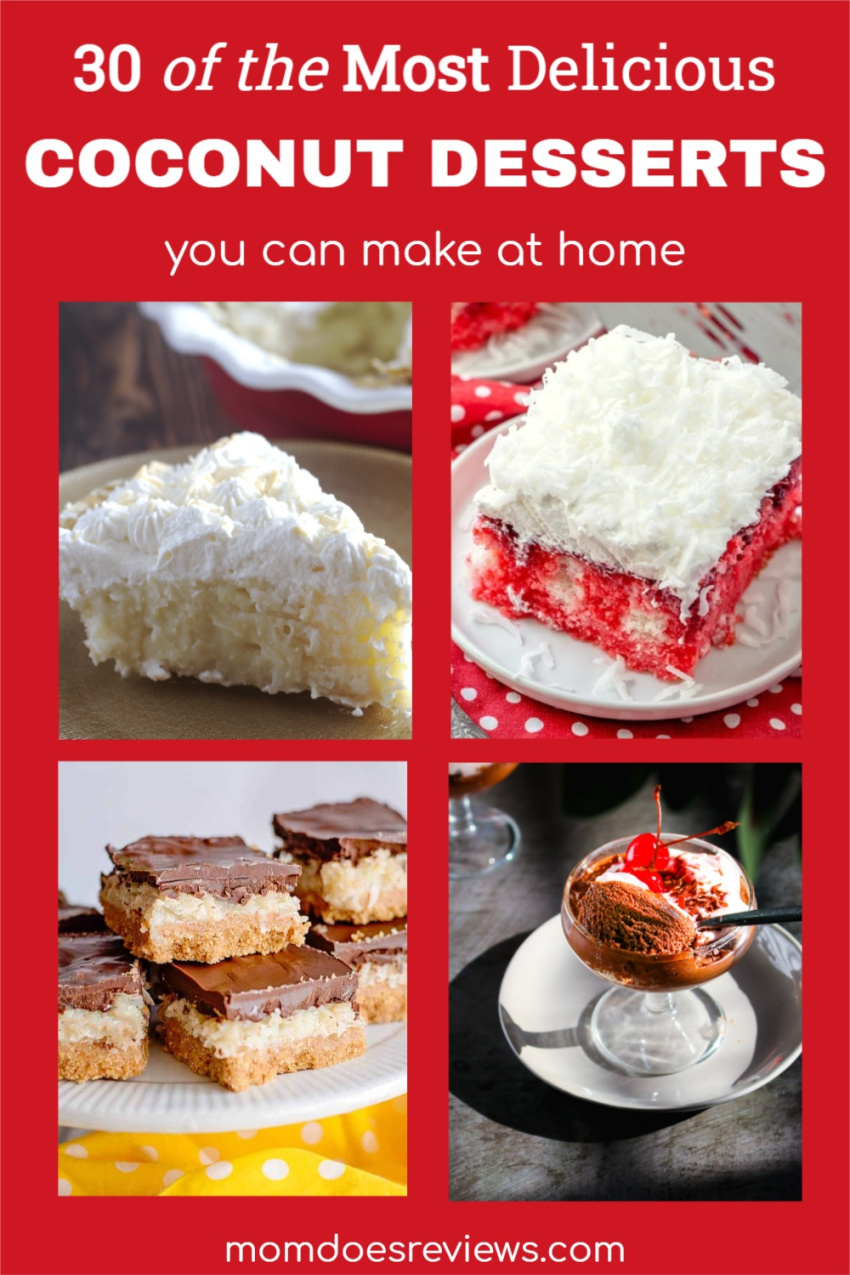 30 of the Most Delicious Coconut Desserts You Can Make at Home #desserts #coconut #sweets