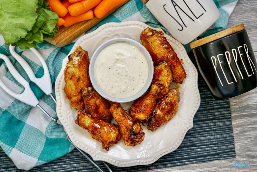 EASY Air Fryer BBQ Chicken Wings
