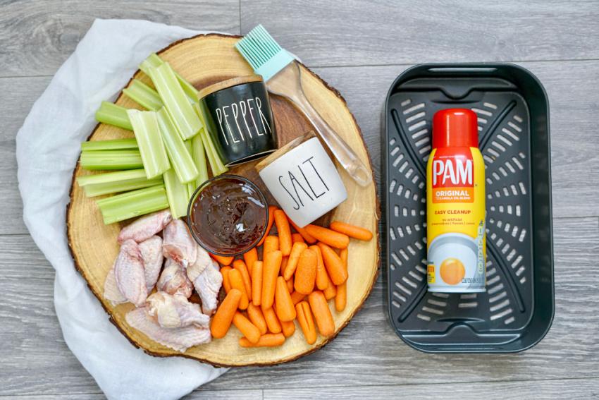 Air Fryer BBQ Chicken Wings ingredients needed