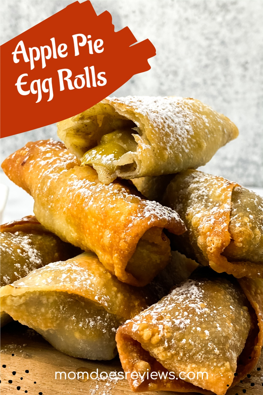 Apple Pie Egg Rolls Recipe #sweets #desserts #applepie