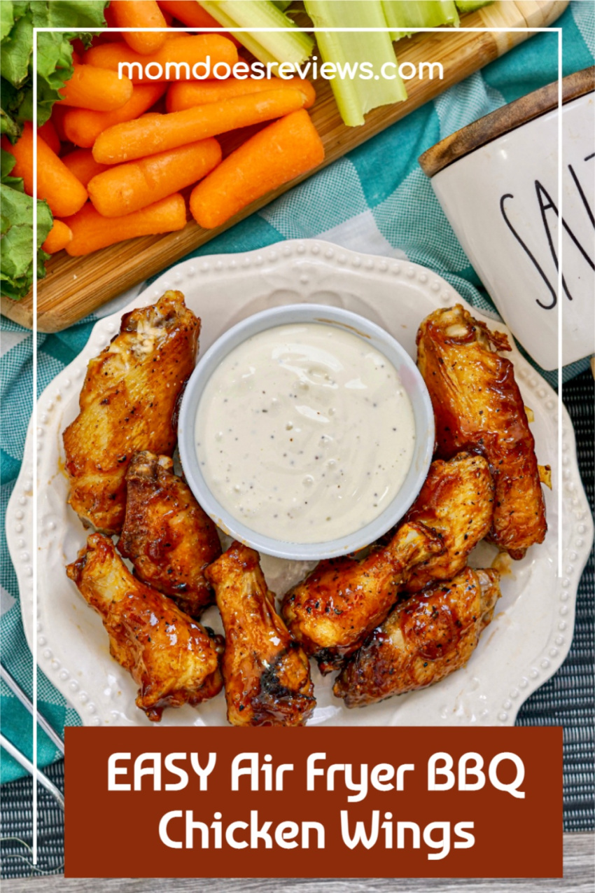 EASY Air Fryer BBQ Chicken Wings #airfryer #recipes #chickenwings