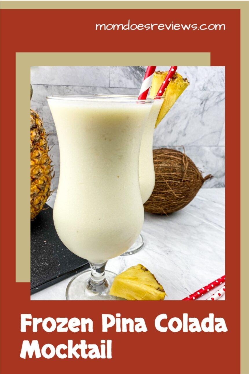 Frozen Pina Colada Mocktail #beverages #pinacolada