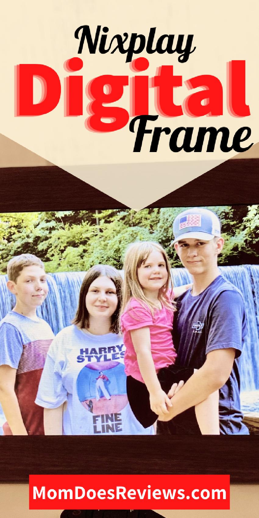 Nixplay digital photo frame wifi wood